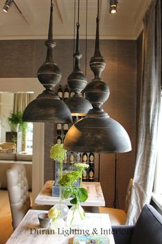 Great pendent lights add nice detail to a room.