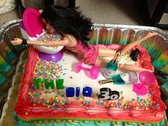 Drunk Barbie Cake. I could make this for every one of my friends..