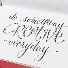 """Trying to """"do something creative everyday"""" even if it's for a few minutes ... hoping to keep the gears moving.  #handlettering  #pamelajanedoodles"""