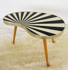 I had a pink one and someone threw it out..sigh #truestory Mid century table
