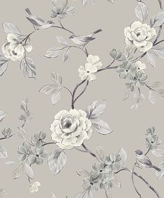 The wallpaper Dream - 6317 from Boråstapeter is a wallpaper with the dimensions x m. The wallpaper Dream - 6317 belongs to the popular wallpaper colle Grey Floral Wallpaper, Bird Wallpaper, Pattern Wallpaper, Original Wallpaper, Design Exterior, Small Space Interior Design, Paper Light, Designer Wallpaper, Chinoiserie