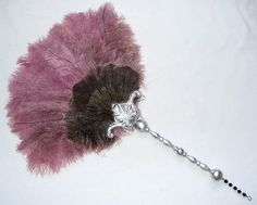 """""""Andrea"""" Feather Fan - Sleek and stylish, this fan is sure to please!"""