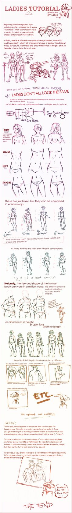 Female body shape tutorial / reference