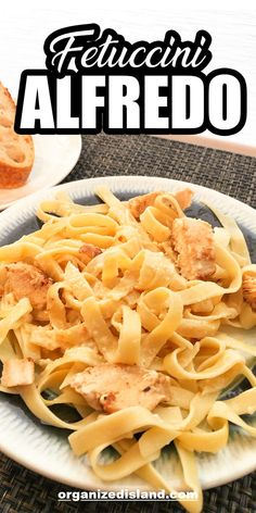 Fettuccine Alfredo is a classic Italian dish made with rich, creamy and cheesy homemade Alfredo Sauce. This recipe is perfect for weeknight or weekend dinner. It is made easier with only a few ingredients- Chicken, Greek Yogurt, Whipping Cream, Parmesan Cheese, and Fettuccine. Try this tasty and creamy pasta with your family. #fettuccinealfredo #fettuccine #pasta #chicken #alfredo #alfredosauce #easydinner #classicitalian #pastarecipe #dinnerrecipes