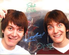 James and Oliver Phelps were my inspiration for Willie and Wallace Gumble. Mundo Harry Potter, Harry Potter Pictures, Harry Potter Characters, Tom Felton, Jarry Potter, Familia Weasley, Oliver Phelps, Phelps Twins, Fred