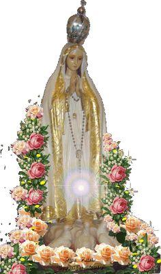 13 de Maio - Dia de Nossa Senhora de Fátima Jesus Mother, Blessed Mother Mary, Blessed Virgin Mary, Religious Pictures, Jesus Pictures, Jesus Christ Images, Lady Of Fatima, Mary And Jesus, Divine Mercy