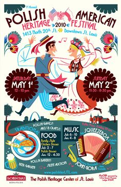 Polish American Heritage Festival Poster Illustration - we need to get one of these festivals going in Pittsburgh