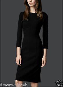 Autumn Stylish OL Long Sleeve Slim Elegant Solid Business Shirt Dress