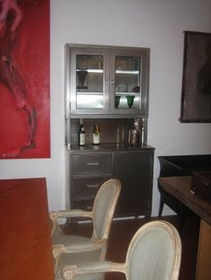 Stainless Steel Hutch Stainless Steel Furniture, Home Upgrades, Refurbished Furniture, Kitchen Ideas, Home Goods, House, Home Decor, Decoration Home, Home