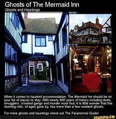 When it comes to haunted accommodation, The Mermaid Inn should be on your list of places to stay. With nearly 900 years of history including duels, smugglers, crooked gangs and murder most foul, it. Scary Places, Haunted Places, Abandoned Places, Cool Places To Visit, Places To Go, Creepy Things, Creepy Stuff, Creepy Facts, Creepy Smile