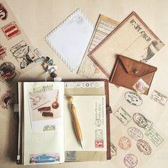 pastel_paperplane's photo on Instagram // Midori Traveleresnotebook