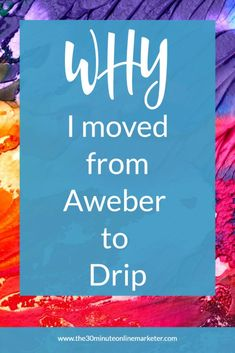 Are you using Aweber and want to do more with your list? Find out why I decided to move from Aweber to Drip. Check out the pros and cons in this blog post. #emailmarketing