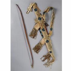 An Apache Beaded Hide Bow and Quiver | Lot | Sotheby's