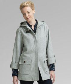 L.L.Bean Signature Hooded Wool Coat. $275.00