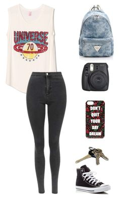TL by sasha06527 on Polyvore featuring polyvore fashion style WithChic Topshop Converse Forever 21 clothing
