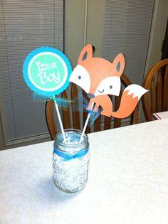 Fox su centro de mesa chico zorro bebé ducha por MindysPaperPiecing