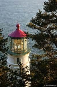 Oregon Coast Lighthouses On Pacific West Coast