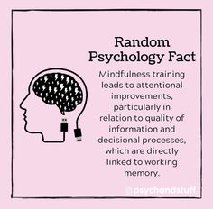 Mindfulness Training, Working Memory, Buddhist Meditation, Psychology Facts, Memories, Memoirs, Souvenirs, Remember This