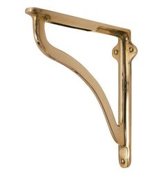 bracket shelf inch yester inches art products deco large brass brackets