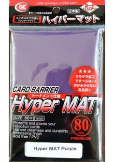 MINT 80 KMC Card Protection Hyper Matte Clear