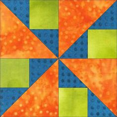 """The GO! Spinner 8"""" Block - FREE Quilt Block Patterns #quilting #diy #decor"""