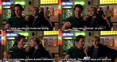 Reason #357 to be Team Logan : he knows Jane Austen.