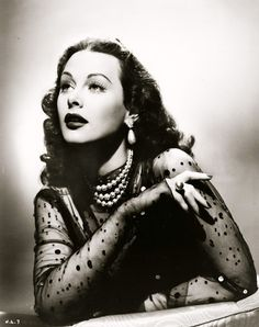 Hedy Lamarr, 1944. #retro #diva #glamour #hollywood #vintage
