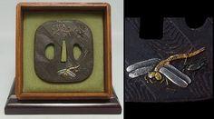 "C602 Rare Edo Japanese Antique TSUBA of Katana ""Spider's web"""