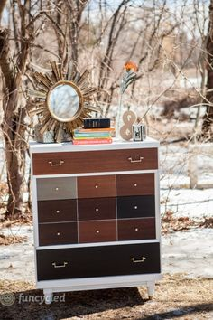 funcycled: stained mid-century dresser