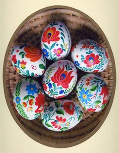 Matyó hand-painted easter eggs from Hungary.