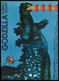 ゴジラ関連の映画ポスター、ポーランド版がどれもお洒落でアート過ぎる「何がどうなったらこうなるのか」 - Togetterまとめ