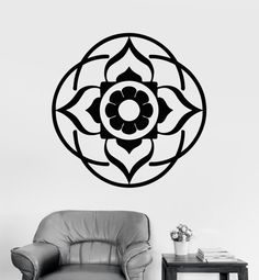 Wall Art Mural Mandala Yoga Lotus Buddha Cool Decor by BoldArtsy