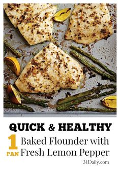 Baked Flounder with Fresh Lemon Pepper Recipe at 31Daily.com