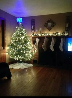 My blue and white Christmas tree
