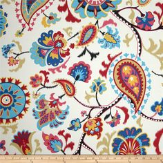 Waverly Sun N Shade Siren Song Jewel from @fabricdotcom  Waverly's Sun N Shade fabrics meet the rugged demands of casual indoor and outdoor living.  This medium weight indoor/outdoor fabric is fade resistant up to 500 hours of direct sun exposure and perfect for decorative accent pillows, chair pads, cushions, deck chairs, slipcovers, upholstery, tabletop and tote bags.