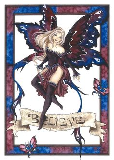 Fairy Art by Amy Brown - Believe Faery - a slightly different version from the other: 'Believe Faery III'