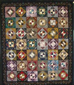 Mary Chalmer's Wool Quilt.  I think this is just a fantastic quilt made out of scrap wools and I found this on Lisa Bongean's blog (June 2010)