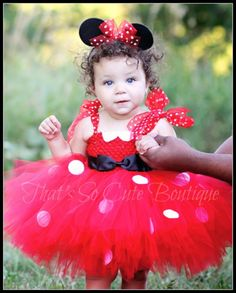 Red Minnie Mouse Tutu Dress, Birthday, Costume