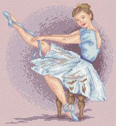 easy cross stitch ballerina - Google Search