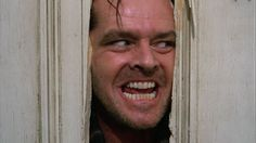 """The movie """"The Shining"""", directed by Stanley Kubrick, based on the novel by Stephen King. Seen here, Jack Nicholson as Jack Torrance, peer. The Shining, Film Shining, Jack Nicholson, Stanley Kubrick, Scary Movies, Great Movies, Horror Movies, Halloween Movies, Halloween Costumes"""