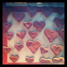 applesauce cinnamon heart ornaments