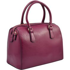 Jump lightly over those storm puddles with this scrumptious deep gloss bag from Dasein.