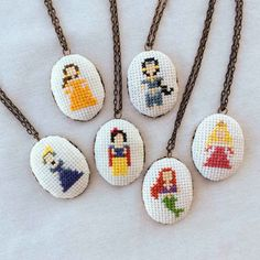 Cross-Stitch Princess Necklaces | 27 Lovely Disney-Inspired Items Every Fan Should Own