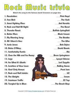 Pop Culture Games: Rock Music Trivia, $1.95