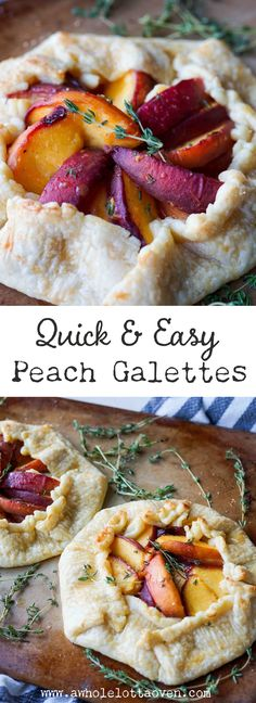 Shortcut Rustic Peach Galette - A Whole Lotta Oven Easy Cheesecake Recipes, Pie Crust Recipes, Tart Recipes, Fruit Recipes, Summer Recipes, Dessert Recipes, Drink Recipes, Delicious Recipes, Pie Dessert
