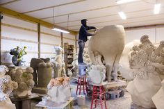 Matt Wedel's ceramic studio