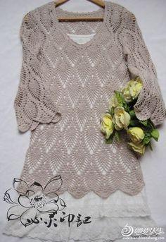 Crochet top pullover