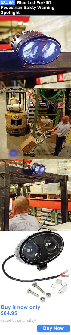 heavy equipment: Blue Led Forklift Pedestrian Safety Warning Spotlight BUY IT NOW ONLY: $84.95
