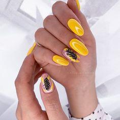 Romantic Nails, Lavender Nails, Almond Acrylic Nails, Gelish Nails, Minimalist Nails, Manicure E Pedicure, Yellow Nails, Super Nails, Accent Nails