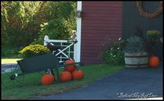 Pumpkins, Wheelbarrow
